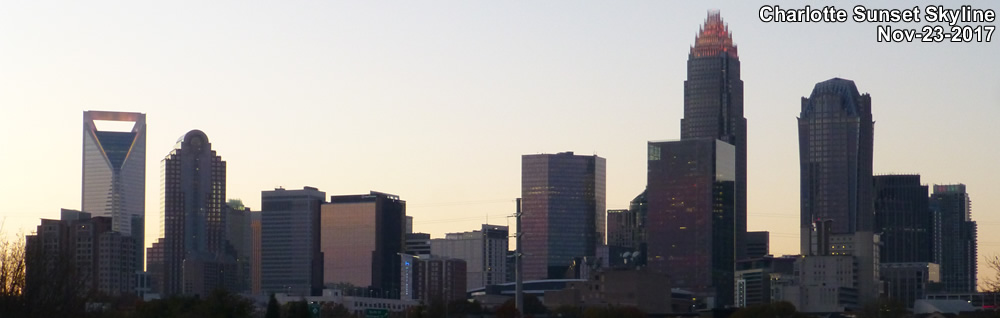 Charlotte Skyline - sunset